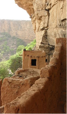 view from cliff dwellings