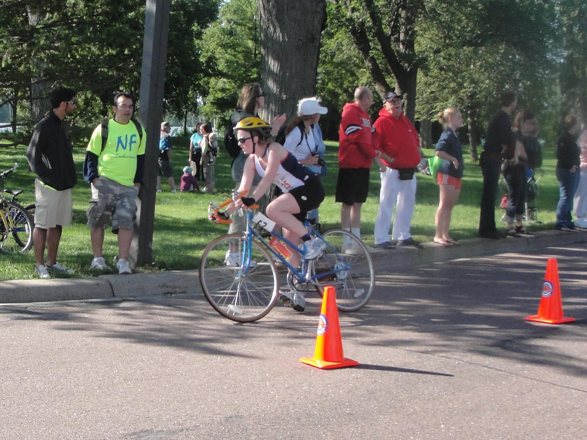 Tri biking
