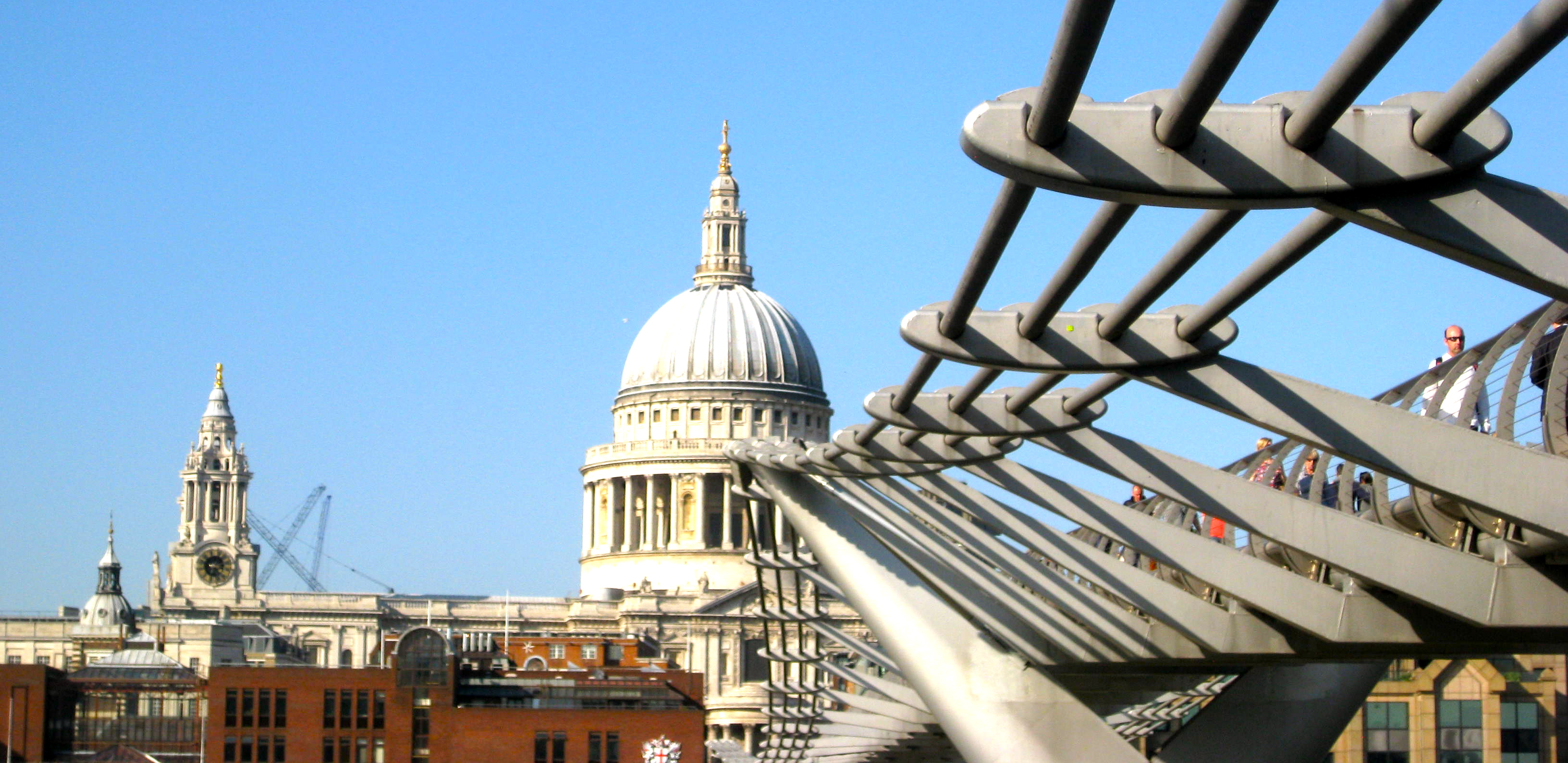 St. Paul's Cathedral as viewed from Millennium Bridge